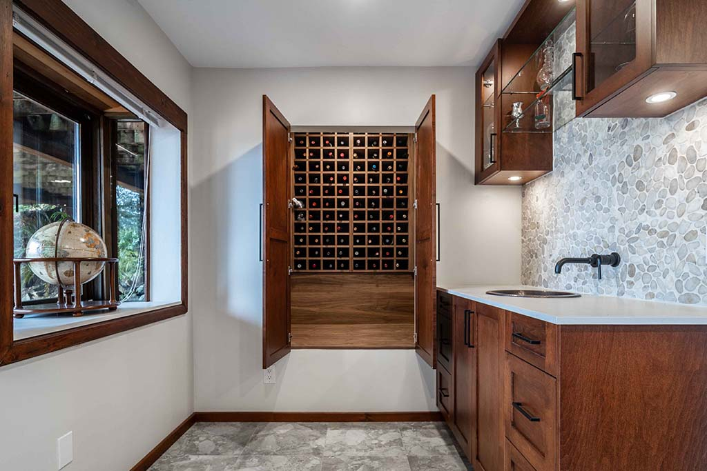 Lions Bay West Vancouver Basement Renovation Wine Cellar Image